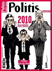 La couverture du numéro spécial de Politis consacré aux dessins d'Aurel en 2010
