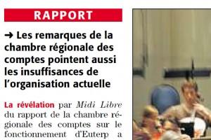 Dans Midi Libre du 3 novembre 2010