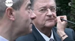 Christian Bourquin et Georges Frêche dans un extrait du film Le Président diffusé à Ce soir ou jamais sur France 3 le 9 décembre 2010 (copie d'écran du site de France 3)