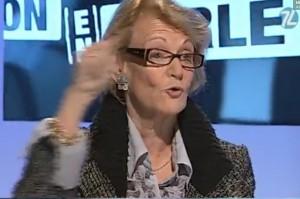 Hélène Mandroux sur 7L TV le 8 décembre 2010 (photo : copie d'écran de la vidéo de l'émission)