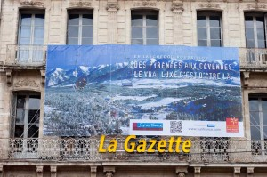 La façade de l'immeuble de La Gazette à Montpellier le 20 novembre 2010 (photo : J.-O. T.)