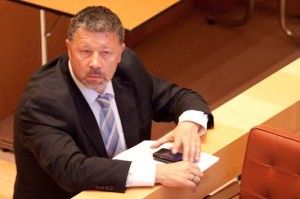 Laurent Blondiau en juin 2010 au conseil régional Languedoc-Roussillon