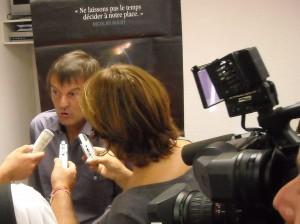 Nicolas Hulot le 7 septembre 2009 à Montpellier (photo : J.-O. T.)