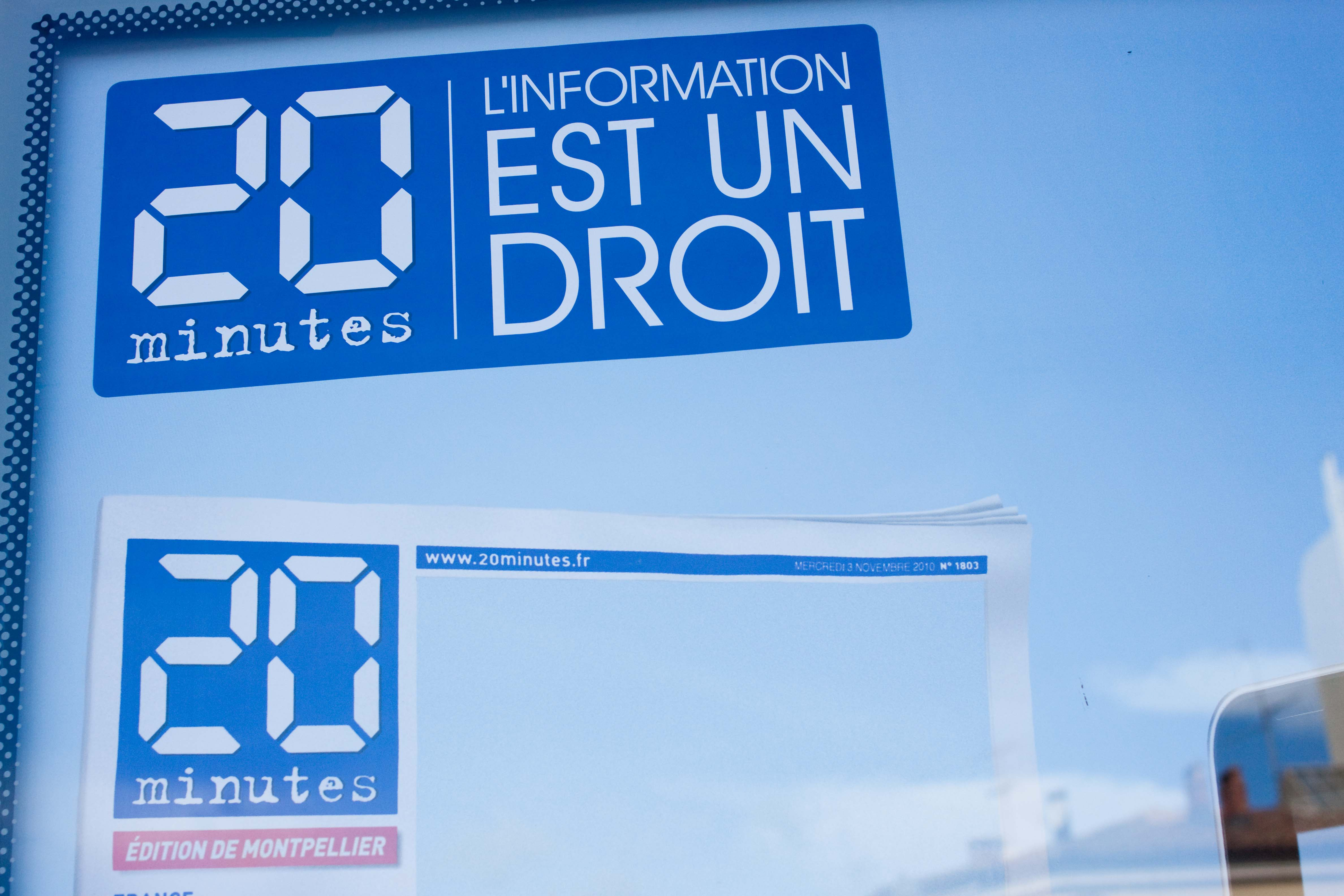 Publicité pour 20 minutes le 3 novembre 2010 à Montpellier (photo : J.-O. T.)