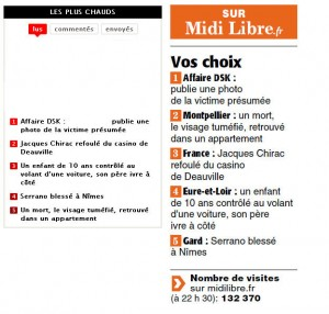 Sur le site de Midi Libre et dans son édition papier le 10 juin 2011