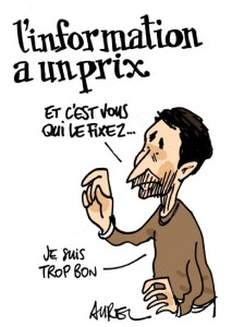 Un dessin d'Aurel pour soutenir Montpellier journal