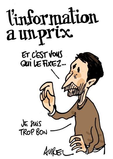 Un dessin d'Aurel pour soutenir Montpellier journal