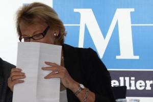 Hélène Mandroux le 17 juin 2011 à l'Hôtel de ville de Montpellier (photo : J.-O. T.)