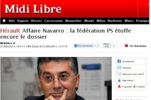 Sur le site de Midi Libre après 11h15 et avant 12h16