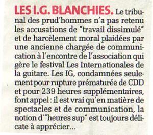 Dans La Gazette de Montpellier du 14 juillet 2011