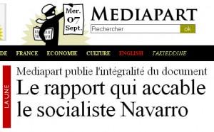 Le rapport qui accable le socialiste Navarro (Mediapart)