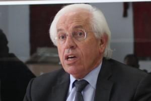 André Vezinhet le 10 octobre 2011 dans les locaux de la fédération socialiste de l'Hérault (photo : J.-O. T.)