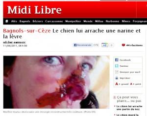 Midi Libre du 11 juin 2011 (copie écran de midilibre.fr)