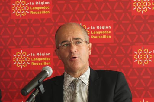 Christian Bourquin, président de la région Languedoc-Roussillon, le 25 novembre 2011 à l'hôtel de région (photo : J.-O. T.)