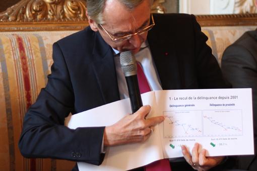 Claude Baland, préfet de l'Hérault, le 27 janvier 2012 dans les salons de la préfecture à Montpellier lors de ses voeux à la presse (photo : J.-0. T.)