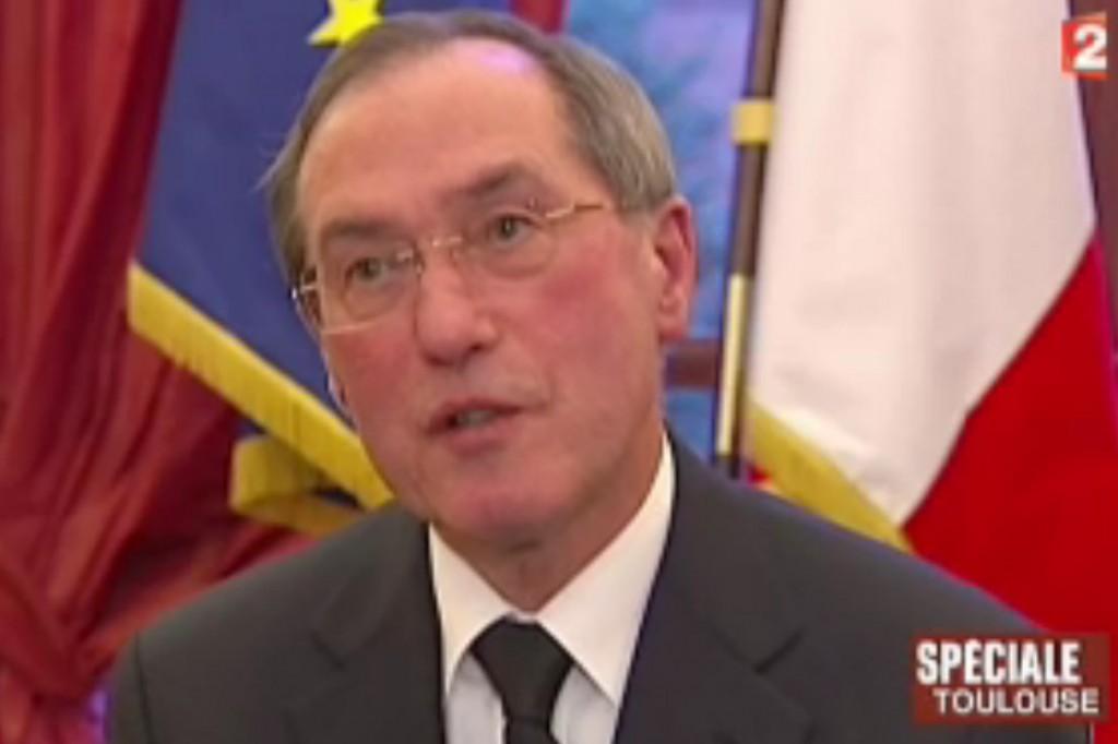 Claude Guéant, ministre de l'Intérieur, le 21 mars 2012 sur France 2 (photo : copie d'écran de la vidéo du journal)