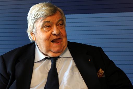 Louis Nicollin le 13 décembre 2011 à la mairie de Montpellier (photo : J.-O. T.)