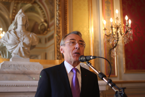Claude Baland à la préfecture de l'Hérault le 25 janvier 2012 (photo : J.-O. T.)