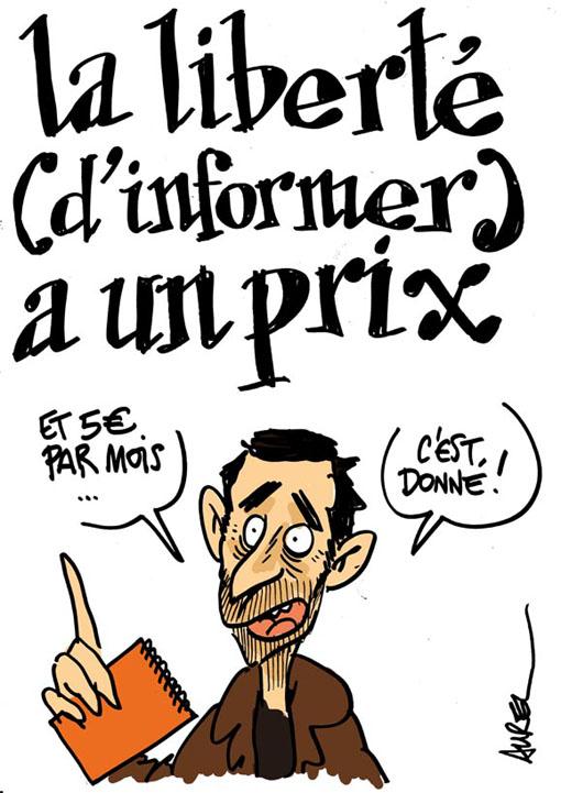 Le prix de la liberté (d'informer) (dessin : Aurel)