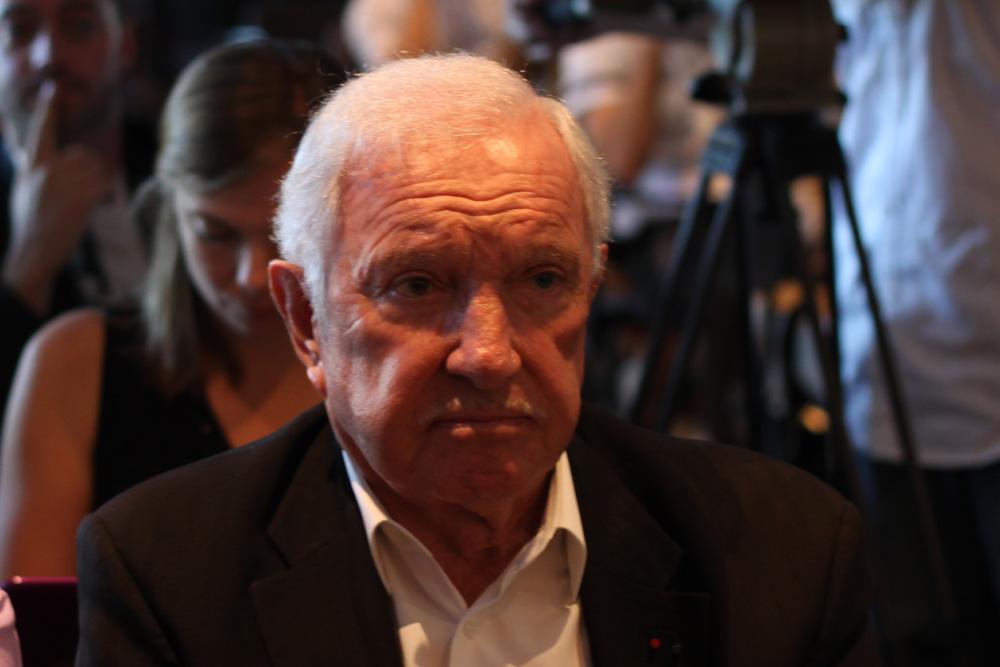 Michel Fromont le 28 septembre 2011 lors de la conférence de presse de réconciliation entre Medef, Mpf et CGPME au Corum (photo : J.-O. T.)