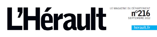 Entête du magazine de l'Hérault de septembre 2012