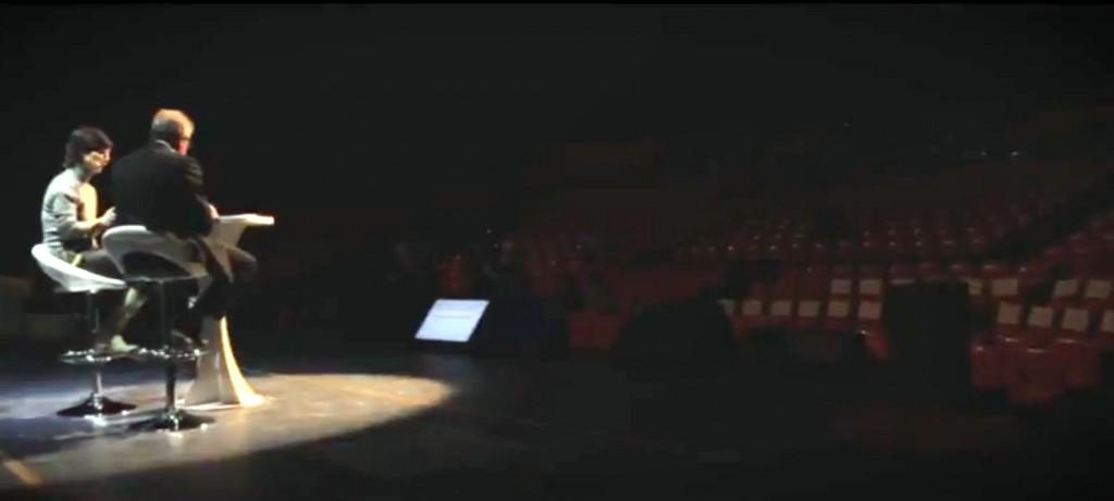 """Capucine Graby et Jean-Pierre Moure préparent la soirée Montpellier unlimited au Zénith (extrait de la vidéo """"Montpellier unlimited - Genèse""""))"""