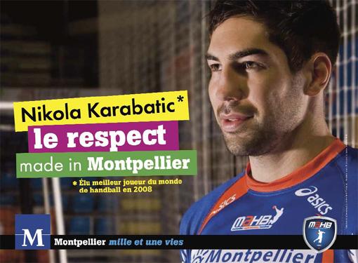Visuel de la campagne de communication de la ville de Montpellier fin 2009 (photo : ville de Montpellier)