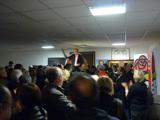 Hussein Bourgi le 22 novembre 2012 au siège de la fédération socialiste de l'Hérault à Montpellier (photo : J.-O. T.)