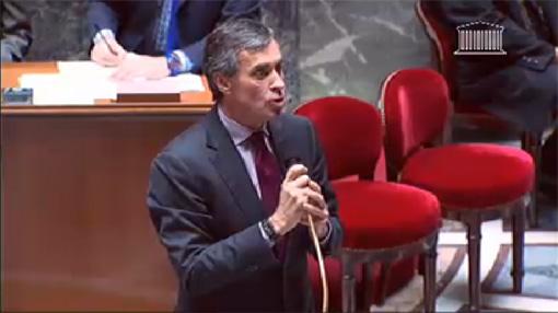Jérôme Cahuzac le 20 novembre 2012 lors des questions au gouvernement à l'Assemblée nationale (copie écran de la vidéo)
