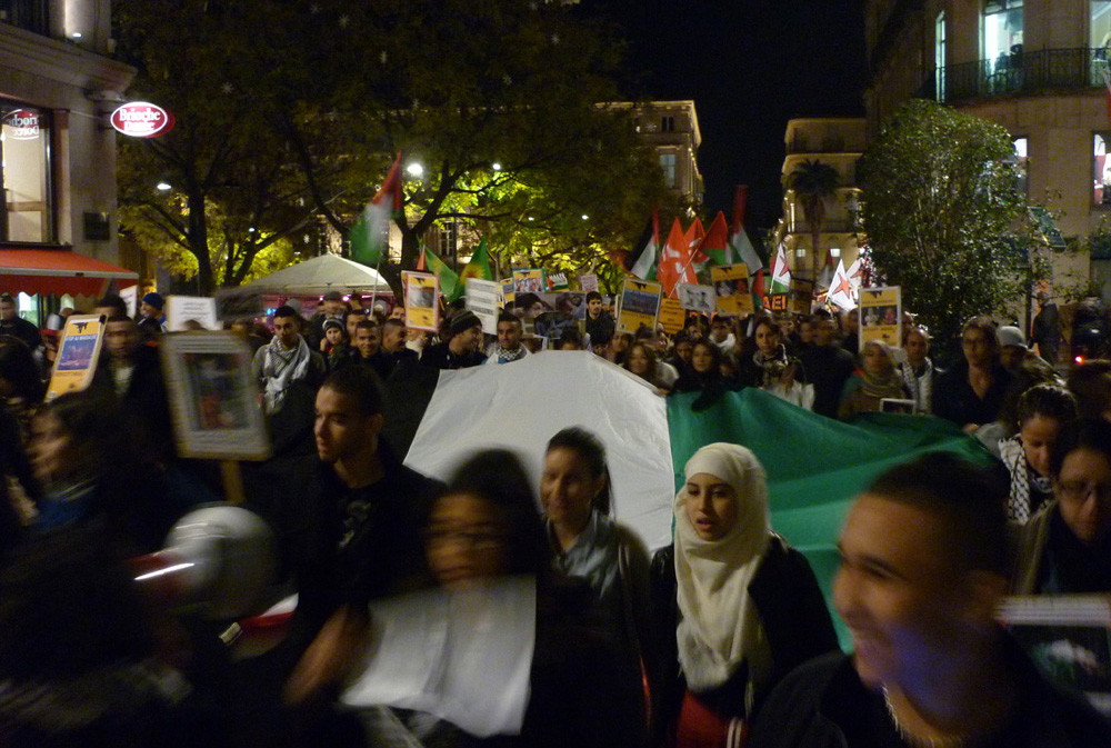 Manifestation pour Gaza le 20 novembre 2012 à Montpellier (photo : J.-O. T.)