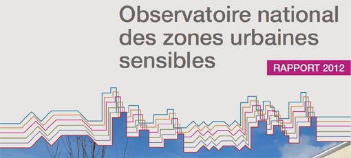 Extrait de la couverture du rapport 2012 de l'observatoire national des zones urbaines sensibles