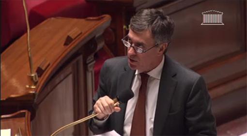 Jérôme Cahuzac, le ministre PS du budget à l'Assemblée nationale le 18 décembre 2012 (photo : copie écran de la vidéo de l'Assemblée)