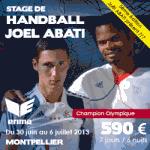 Image promotionnelle du stage de handball à Montpellier en juillet 2013 (extrait du site Stages academy)