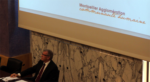 Jean-Pierre Moure en conseil d'agglomération le 11 novembre 2012 (photo : J.-O. T.)