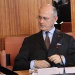 Pierre de Bousquet de Florian, préfet de l'Hérault, le 22 janvier 2013 (photo : J.-O. T.)