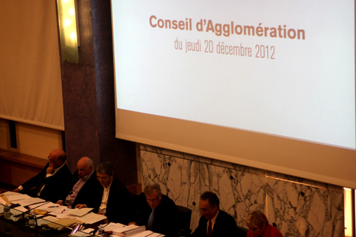 Conseil d'agglomération de Montpellier du 20 décembre 2012 (photo : J.-O. T.)