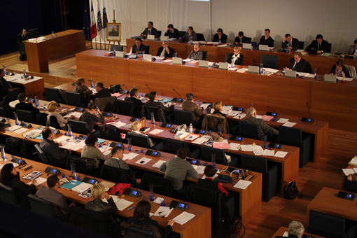 Conseil municipal de Montpellier le 4 fvrier 2013 (photo : J.-O. T.)