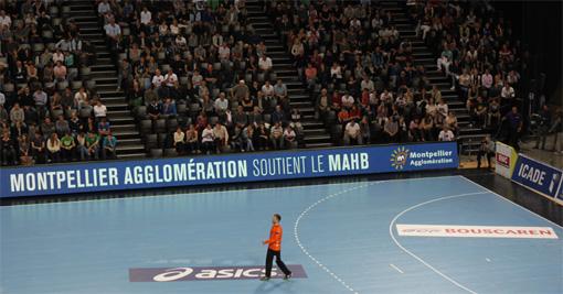 Lors du match MAHB - Dunkerque le 25 octobre 2012 à l'Arena de Montpellier (photo : J.-O. T.)