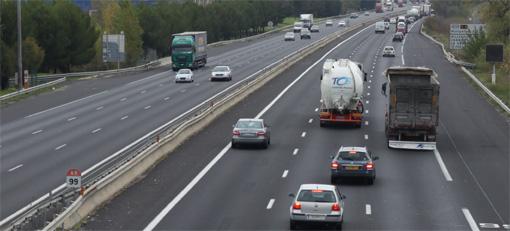 L'autoroute A9 à l'ouest de Montpellier en novembre 2011 (photo : J.-O. T.)
