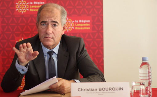 Christian Bourquin, prsident de la rgion Languedoc-Roussillon, le 22 novembre 2012 (photo : J.-O. T.)