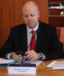 Frédéric Loiseau, directeur de cabinet à la préfecture de l'Hérault, le 22 janvier 2013 (photo : J.-O. T.)