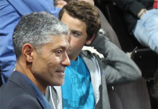 Bhakti Ong, agent de Nikola Karabatic le 25 octobre 2012 à l'Arena de Montpellier (photo : J.-O. T.)