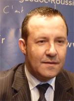 Stephan Rossignol, maire UMP de La Grande-Motte, le 22 janvier 2010 (photo : J.-O. T.)