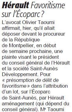 Extrait de Midi Libre du 5 décembre 2012