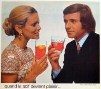 Apéro Montpellier journal (photo extraite d'une publicité Campari de 1972, DR)