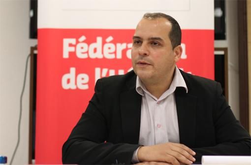 Hussein Bourgi, premier secrétaire de la fédération PS de l'Hérault le 24 avril 2013 (photo : J.-O. T.)