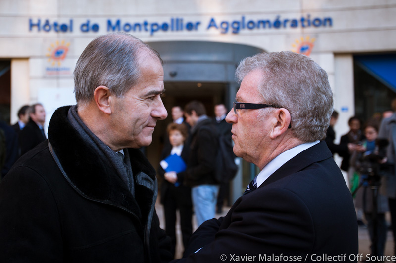 Christian Bourquin et Jean-Pierre Moure le 22 fvrier 2013 (photo : Xavier Malafosse)