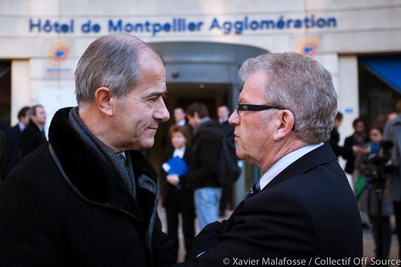 Christian Bourquin et Jean-Pierre Moure le 22 février 2013 (photo : Xavier Malafosse)