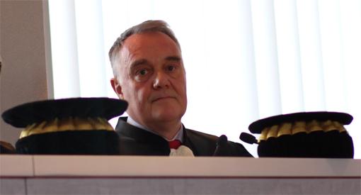 Nicolas Brunner, président de la chambre régionale des comptes du Languedoc-Roussillon lors de l'audience solennelle de rentrée du 26 avril 2013 (photo : J.-O. T.)