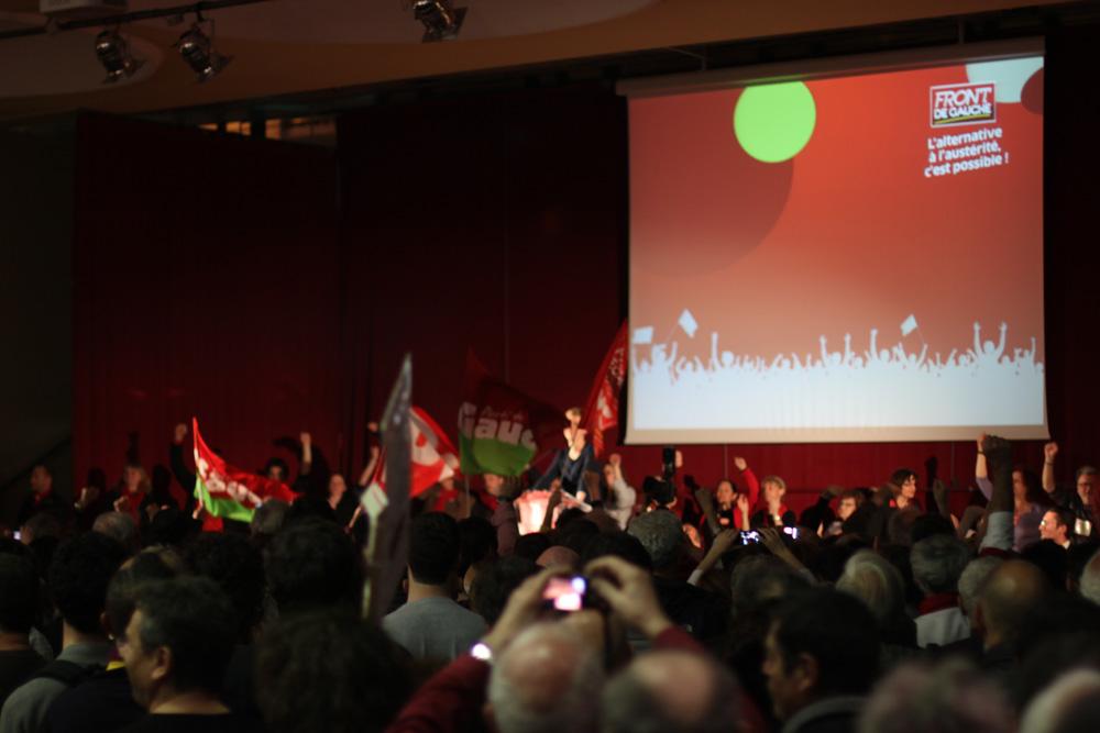 Meeting du Front de gauche contre l'austérité à Montpellier le 11 avril 2013 (photo J.-O. T.)